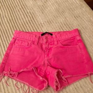 J brand bright pink jean shorts size 24